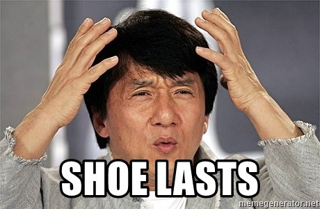 Jackie Chan -  shoe lasts
