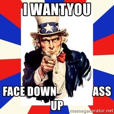 uncle sam i want you - I WANTYOU FACE DOWN                 ASS UP