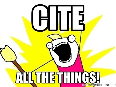 X ALL THE THINGS - cite all the things!