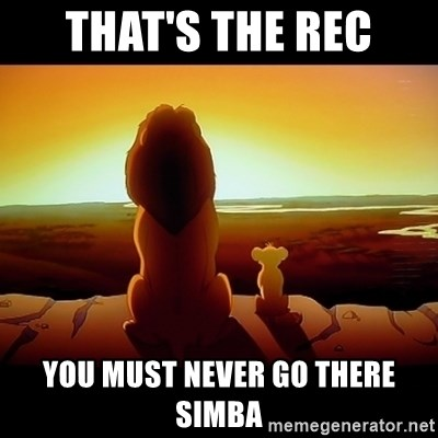 Simba - That's the rec You must never go there simba
