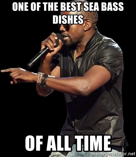 Kanye West - ONE OF The BEST SEA BASS DISHES OF ALL TIME