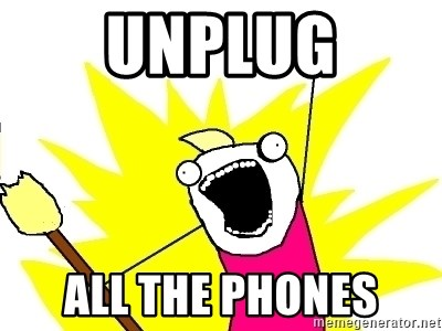 X ALL THE THINGS - UNPLUG ALL THE PHONES