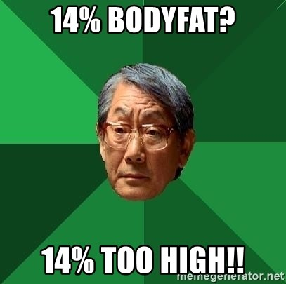 High Expectation Asian Father - 14% bodyfat? 14% too high!!