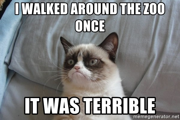 Grumpy cat good - I walked around the Zoo once It was terrible