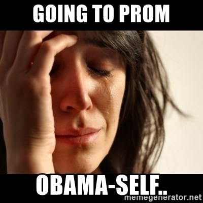 crying girl sad - going to prom obama-self..