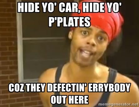Antoine Dodson - hide yo' car, hide yo' p'plates coz they defectin' errybody out here