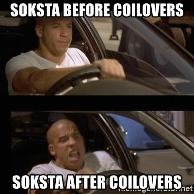 Vin Diesel Car - Soksta before coilovers soksta after coilovers