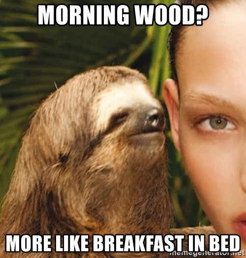 The Rape Sloth - Morning Wood? More like breakfast in bed