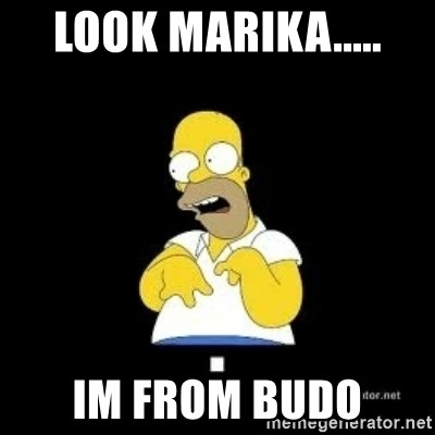 Homer Look Marge  - look marika..... im from budo