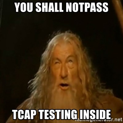 Gandalf You Shall Not Pass - You shall notpass tcap testing inside