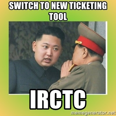 kim joung - SWITCH TO NEW TICKETING TOOL IRCTC