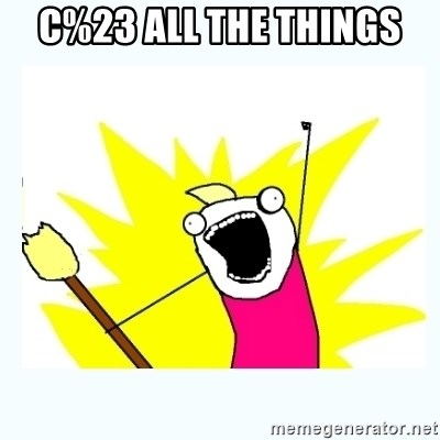 All the things - C%23 ALL THE THINGS