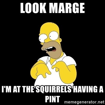 look-marge - Look marge I'm at the squirrels having a pint