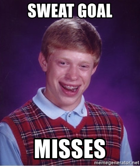 Bad Luck Brian - sweat goal misses