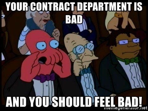 Zoidberg - Your Contract department is bad and you should feel bad!