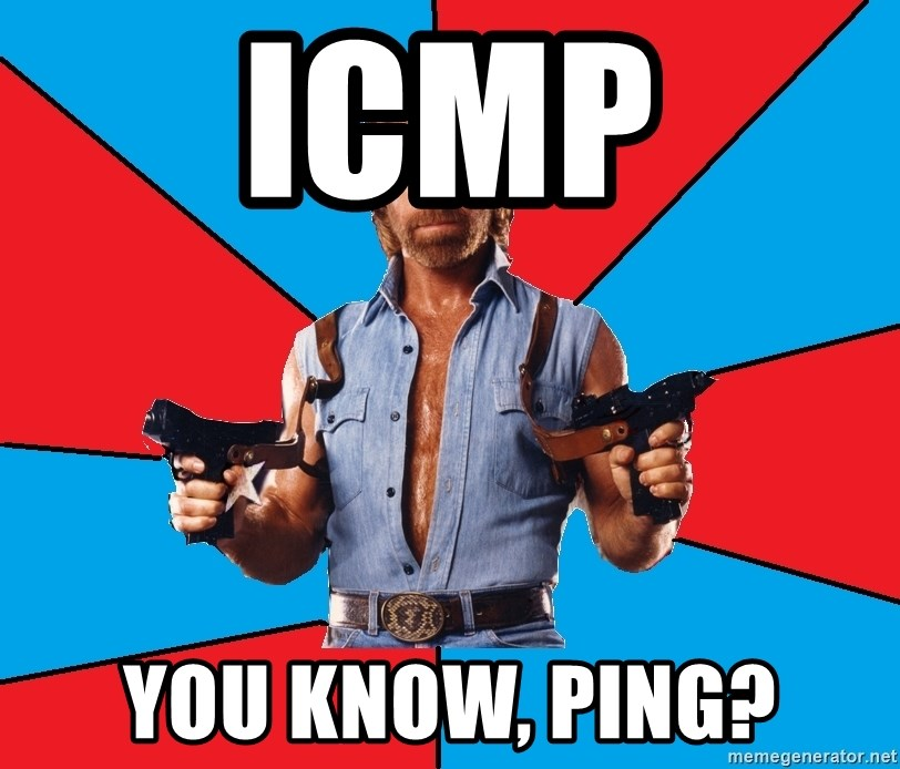 Chuck Norris  - icmp you know, ping?