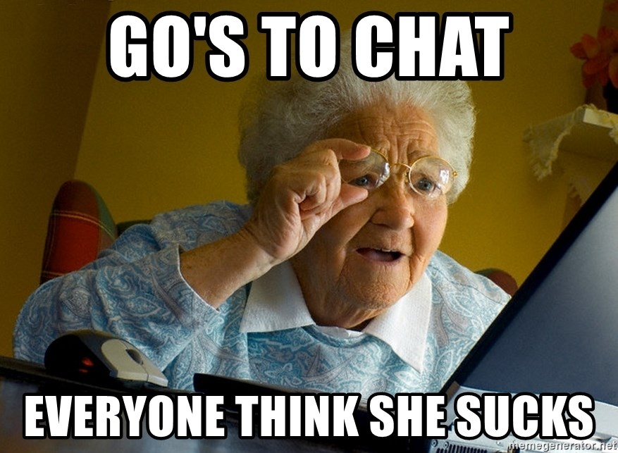 Internet Grandma Surprise - go's to chat everyone think she sucks