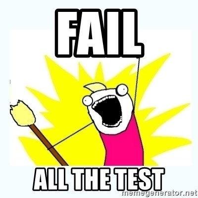 All the things - Fail All the test