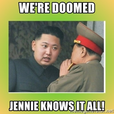 kim joung - we're doomed jennie knows it all!