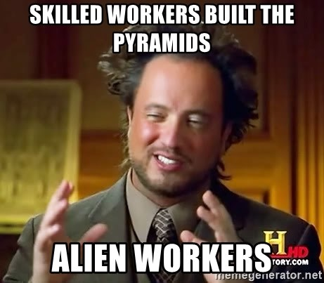 Giorgio A Tsoukalos Hair - skilled workers built the pyramids alien workers