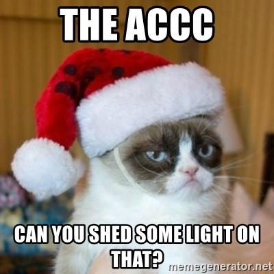Grumpy Cat Santa Hat - The ACCC Can you shed some light on that?