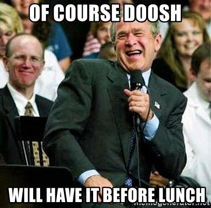 Laughing Bush - of course Doosh  Will have it before lunch