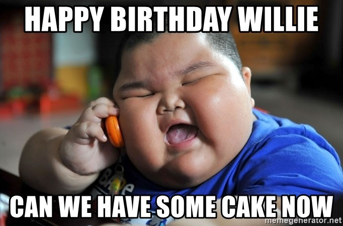 Fat Asian Kid - happy birthday willie can we have some cake now