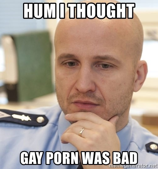 riepottelujuttu - HUM I THOUGHT  GAY PORN WAS BAD