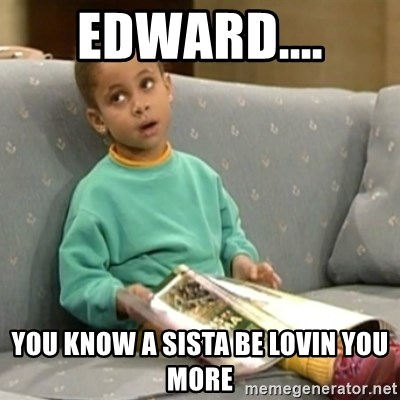 Olivia Cosby Show - Edward.... You know a Sista be lovin you more