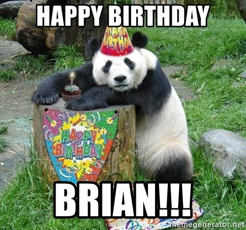 Happy Birthday Panda - Happy Birthday BRIAN!!!
