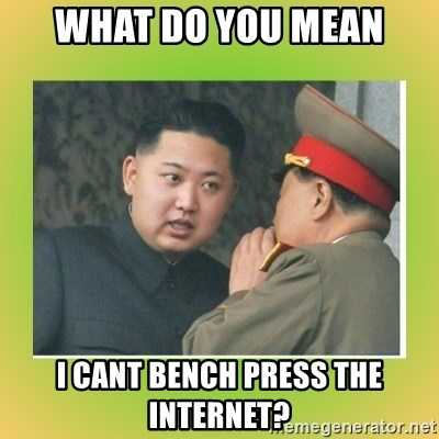 kim joung - what do you mean I cant bench press the internet?