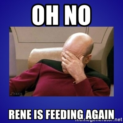 Picard facepalm  - oh no rene is feeding again