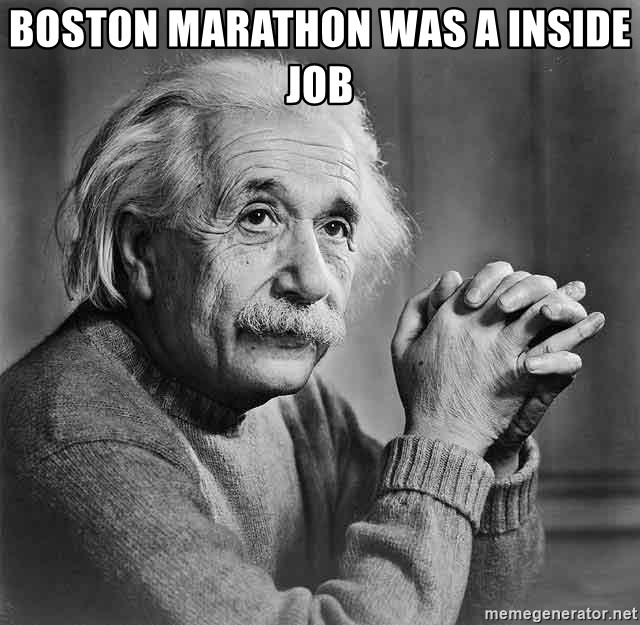 Albert Einstein - boston marathon was a inside job