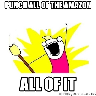 clean all the things blank template - Punch all of the amazon all of it
