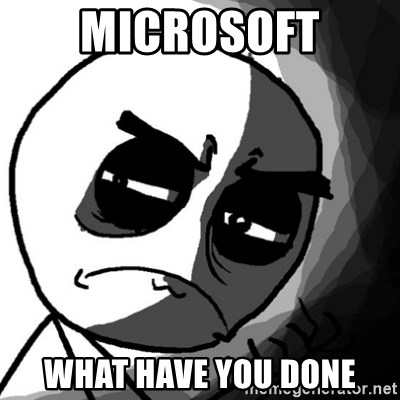 You, what have you done? (Draw) - Microsoft what have you done