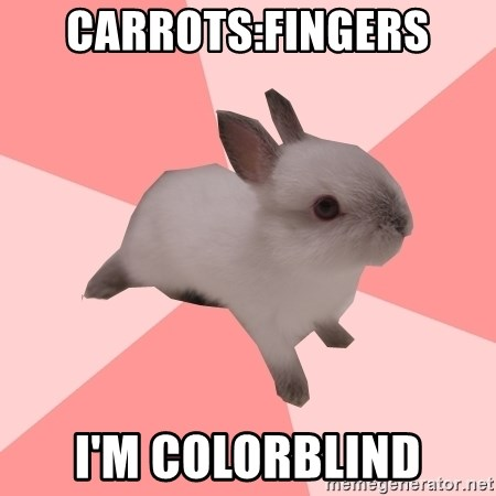 Roleplay Shipper Bunny - carrots:fingers i'm colorblind