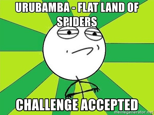 Challenge Accepted 2 - Urubamba - flat land of spidERS Challenge Accepted