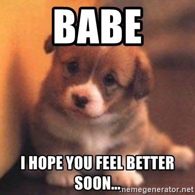 cute puppy - Babe I hope you feel better soon...