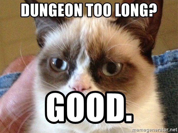 Angry Cat Meme - Dungeon too long? good.