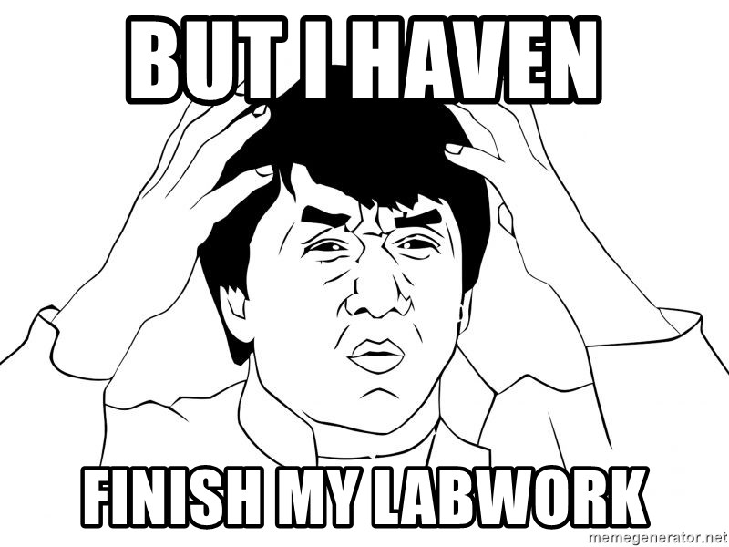 Jackie Chan Meme - but i haven  finish my labwork