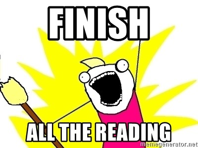 X ALL THE THINGS - Finish All the reading