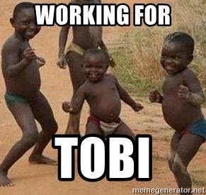 african children dancing - WORKING FOR  TOBI
