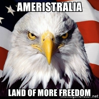 Freedom Eagle  - Ameristralia Land of more Freedom