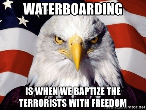 American Pride Eagle - Waterboarding Is when we baptize the terrorists with freedom