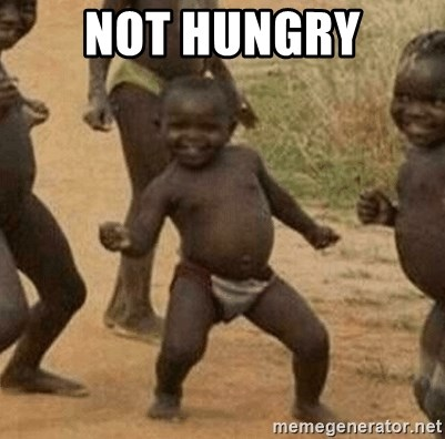 Success African Kid - not hungry
