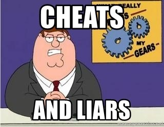 Grinds My Gears Peter Griffin - CHEATS AND LIARS