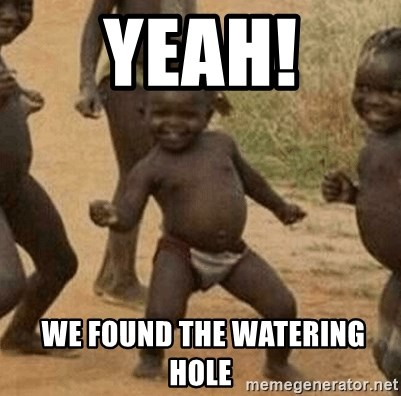 Success African Kid - YEAH!  WE FOUND THE WATERING HOLE