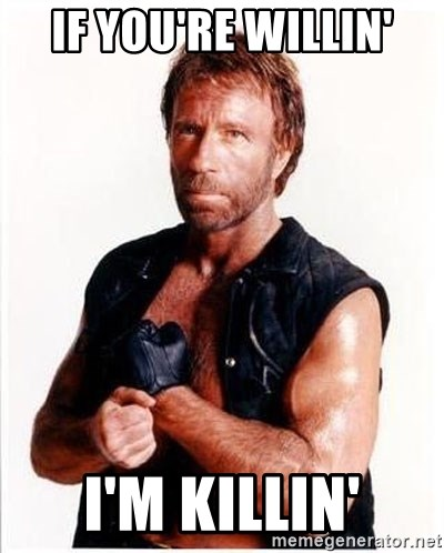 Chuck Norris  - If you're willin' I'm killin'