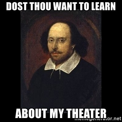 William Shakespeare - Dost Thou Want to learn about my theater