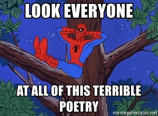 Spiderman Tree - Look everyone at all of this terrible poetry